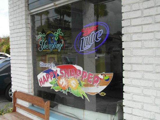 Bluezy's Happy Snapper: Outside of restaurant
