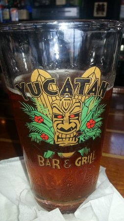 Yucatan Beach Stand Bar: Beer glass