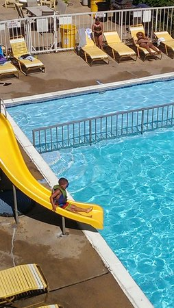 Carideon Motel: slide at the pool