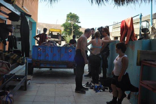 Aqaba Adventure Divers Village : Equipment area