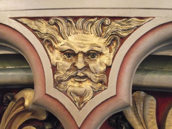 Castell Coch: Detail of Faces on The Fireplace