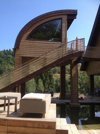 Hostellerie La Cheneaudiere - Relais & Chateaux: Sauna avec vue imprenable