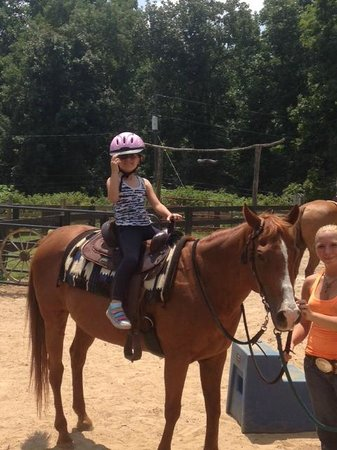 Riding lesson at Bent Tree Stables
