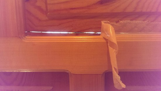 Dilek Hotel : CRACK IN FRONT DOOR SO PEOPLE CAN SEE INTO ROOM