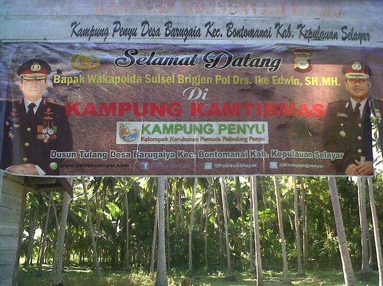 Selayar Island, Indonésie : pintu gerbang ke kampung penyu