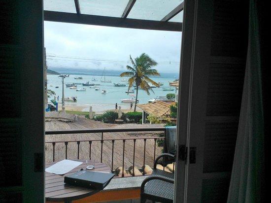 Pousada Corsário: Vista de Praia dos Ossos desde la habitación