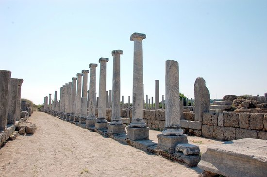 Colonade at Perge Archaelogical Site