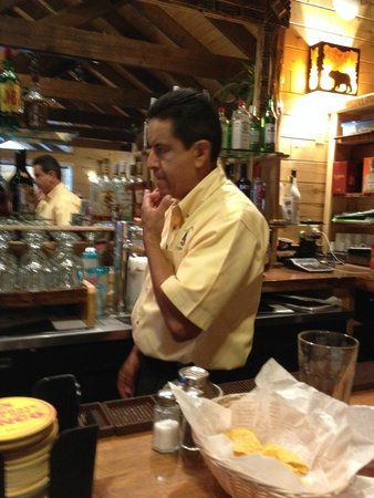 Ramon's: Ramon, the owner, behind the bar.