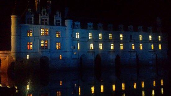 Château de Chenonceau : Chateau de Chenonceau de nuit