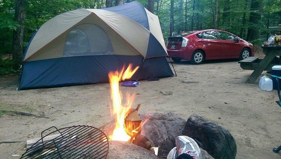 West Swanzey, Nueva Hampshire: Site 53 - Fire pit view