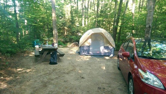 West Swanzey, Нью-Гэмпшир: Site 53 - our setup