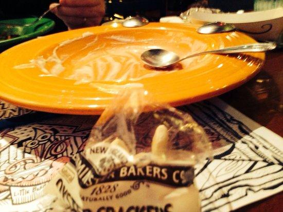 Geddys : Clam chowder is GONE!!!