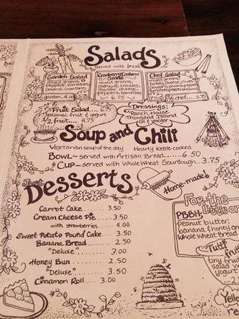 Yellow Deli: menu, page two