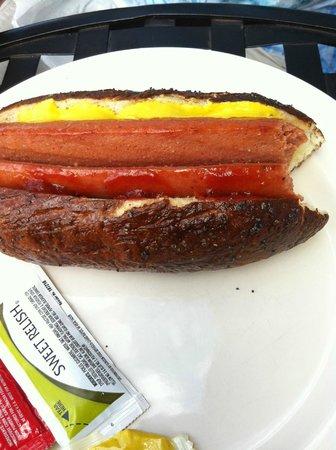 Pumpernickel's Pretzel Bakery: Angus beef hotdog