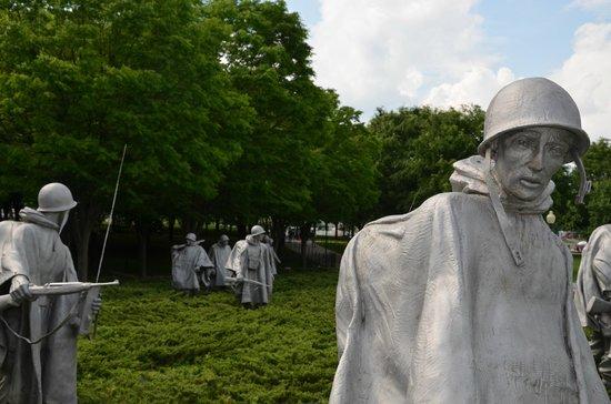 Korean War Veterans Memorial: Monumento a los veteranos Guerra de Korea