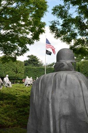 Korean War Veterans Memorial : Soldados de patrulla