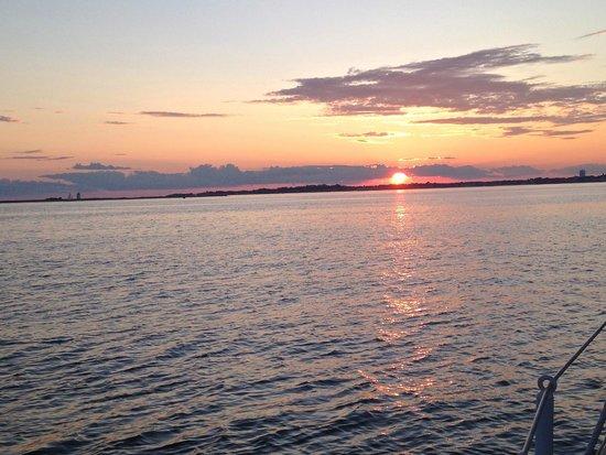 Schooner Bay Lady II: Sunset on the bay