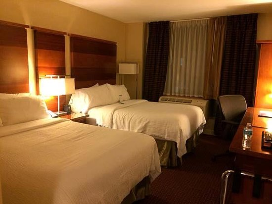 fairfield inn suites new york manhattan times square bedroom with 2