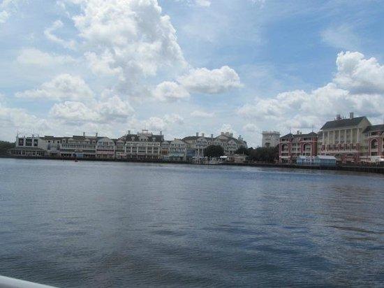 Disney's BoardWalk Villas: Daytime view of the boardwalk from boat