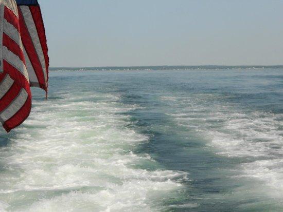 Hardy Boat Cruise: wake