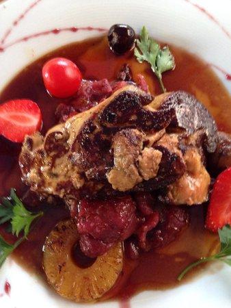 La Table d'Erillac : Foie gras chaud à la façon du chef