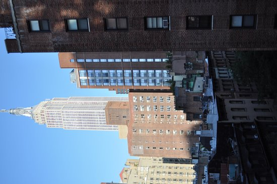 Shelburne NYC–an Affinia hotel: View from window in living area & bedroom