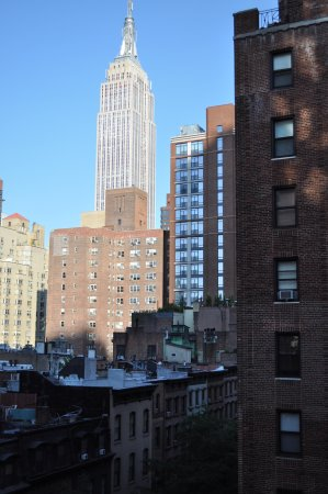 Shelburne NYC–an Affinia hotel : View from window in living area & bedroom