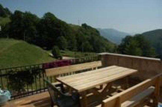 Albergo Alpino: terrazzo con panorama