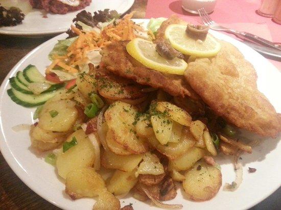 Laufauf: Cotoletta viennese con patate