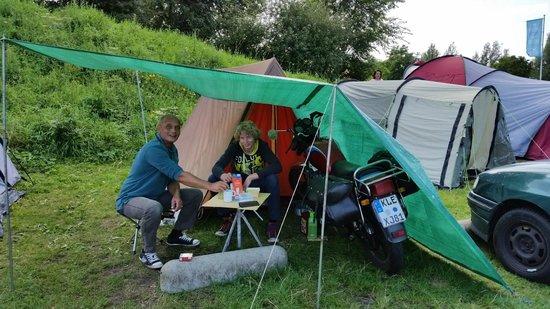 Camping Zeeburg: Vor unserem Zelt