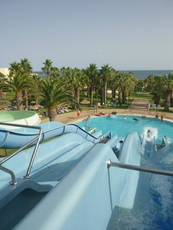 Hotel Manar : View from the top of the slides.
