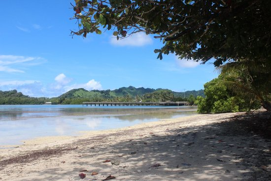 Kosrae Nautilus Resort: View from beach in front of KNR