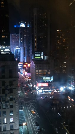 The Manhattan at Times Square Hotel: View from the hotel room.