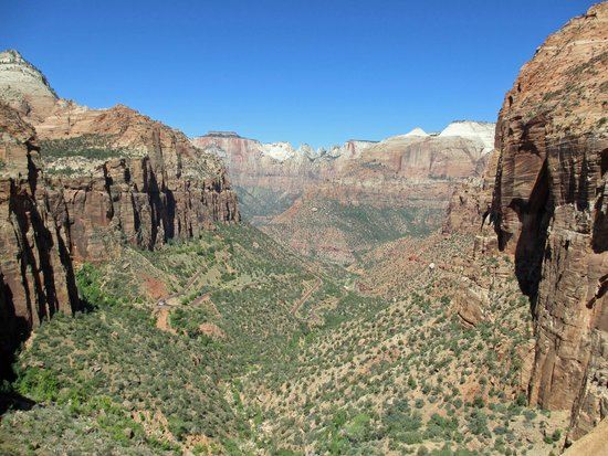 Canyon Overlook Trail: View of the canyon is breathtaking!