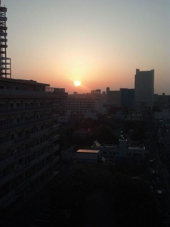 Juyoh Hotel: my first sunrise in Japan (4 in the mourning, Juyoh)