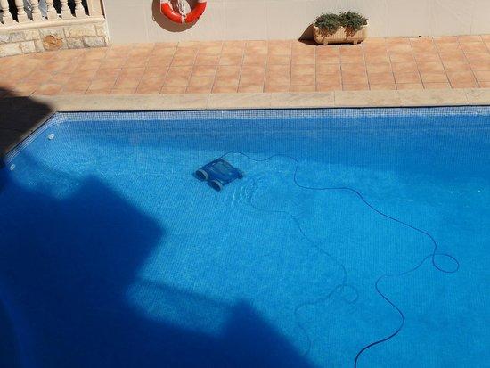Hotel Palma Mazas: czyszczenie basenu