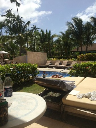 Majestic Colonial Punta Cana: View from our club swim up veranda