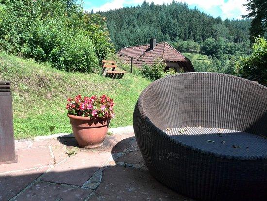 Hotel Restaurant Ochsenwirtshof: Terrasse beim Pool.