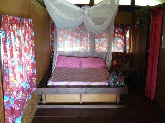 Pension Paparara : l'interieur du bungalow