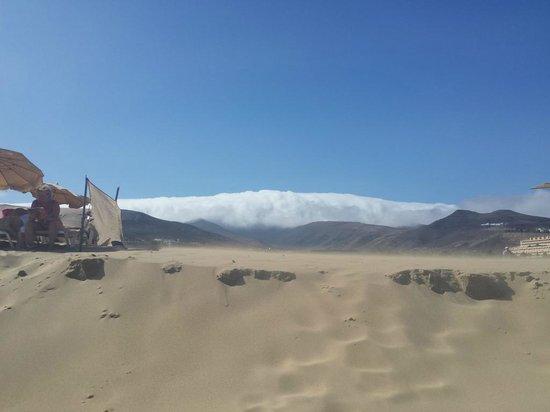 Barcelo Jandia Playa: La plage avec vue sur la montagne