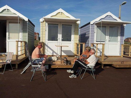 St. Annes Beach Huts: Beach Hut number 44, August 2014.