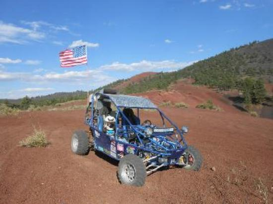 "The ""Cherry Bowl"" volcano cinder crater at Cinders OHV area"