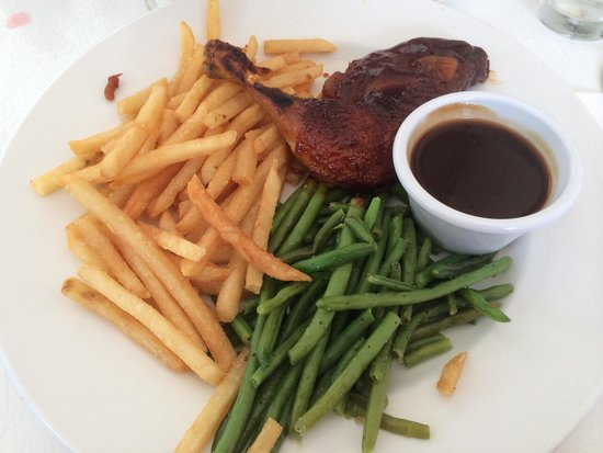 Maple Bbq Chicken With Green Beans And Fries Lunch Special 10