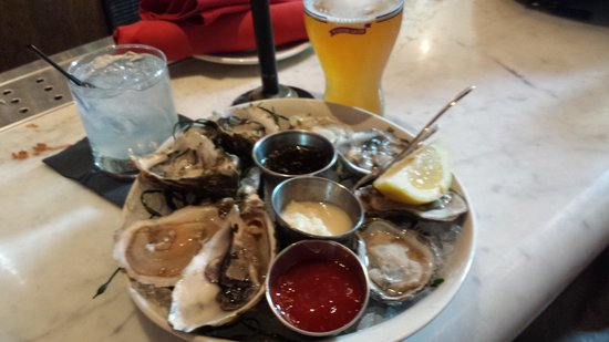 Todd English P.U.B.: East and West Coast Oysters