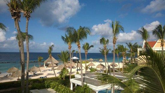 Curacao Marriott Beach Resort & Emerald Casino: No es una postal. Es la vista de la habitación. Espectacular