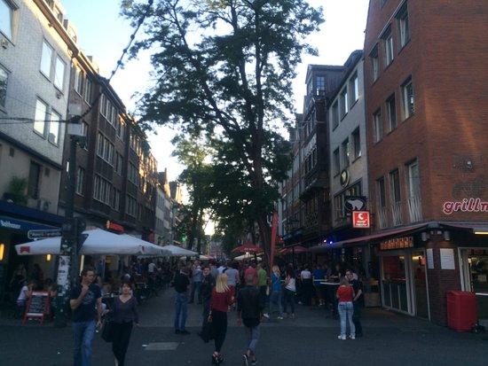 Altstadt: View down Bolker Str.