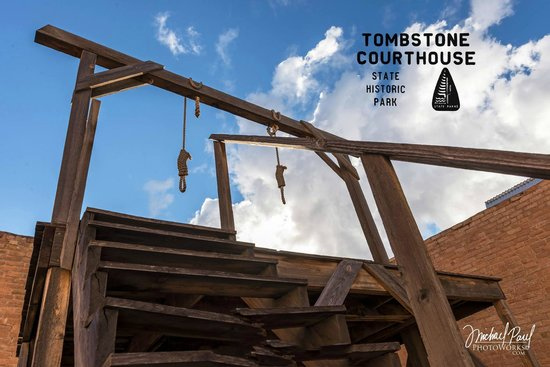 Tombstone Courthouse State Historic Park: Our Gallows. Taken by Micheal Paul Photoworks