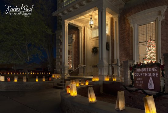 Tombstone Courthouse State Historic Park: Photo by Michael Paul Photoworks at our 2013 Luminaries