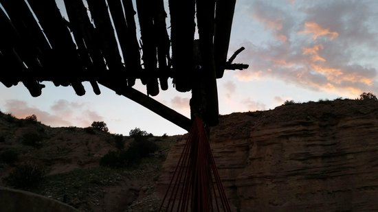 Ojo Caliente Mineral Springs Resort and Spa: Kicking back in the hammock