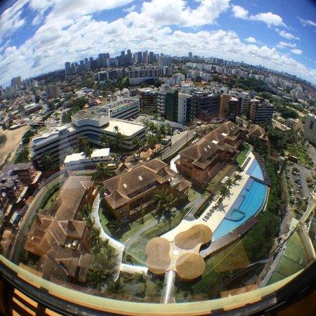 Pestana Bahia Lodge: Vista do Lodge da torre do Pestana Bahia Hotel